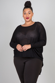PLUS SIZE COMFY LOOSE TOP