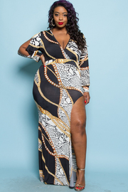 PLUS SIZE PATTERN DRESS