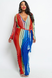 PLUS SIZE RAINBOW JUMPSUITS