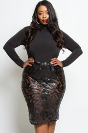 PLUS SIZE SEXY MESH SKIRTS DRESS