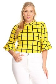 PLUS SIZE CHECK PATERN TOP