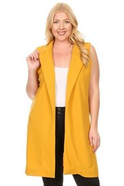 PLUS SIZE LONG BODY VEST
