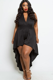 PLUS SIZE SEXY SLEEVELESS MAXI DRESS