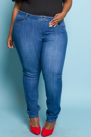 PLUS SIZE WASHED JEANS