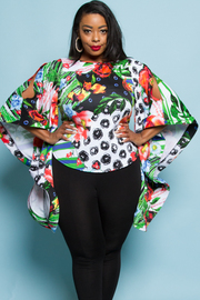 PLUS SIZE BELL LONG SLEEVE TOP