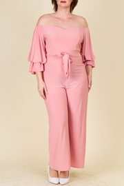 PLUS SIZE SEXY FITTED JUMPSUITS