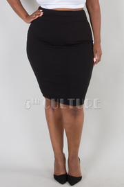PLUS SIZE SEXY FITTED MIDI SKIRTS