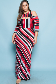 PLUS SIZE SEXY FRONT MAXI DRESS