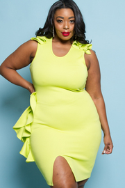 PLUS SIZE SLEEVELESS FITTED SEXY MINI DRESS