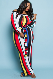 PLUS SIZE STRIPE JUMPSUITS