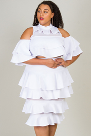 PLUS SIZE LAYERED GORGEOUS TOP AND SKIRTS SET