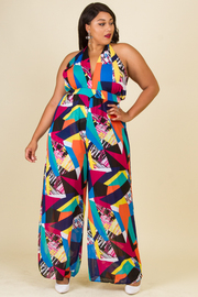 PLUS SIZE HALTER SEXY MAXI DRESS
