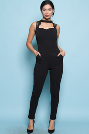 SEXY FRONT NECK JUMPSUITS