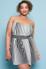 PLUS SIZE TUBE TOP ROMPERS