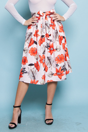 A-LINE CUTE FLORAL SKIRTS