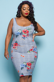 PLUS SIZE FITTED MINI DRESS