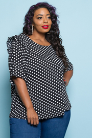 PLUS SIZE CUTE SHORT SLEEVE TOP