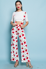CUTE TOP AND FLORAL PANTS SET