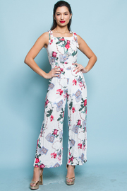 SLEEVELESS FLORAL JUMPSUITS