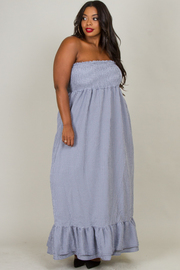 PLUS SIZE TUBE TOP MAXI DRESS