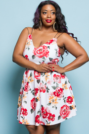 PLUS SIZE SLEEVELESS A-LINE MINI DRESS