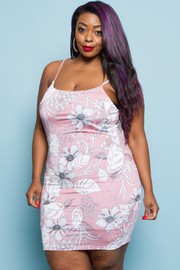 PLUS SIZE SLEEVELESS MINI DRESS