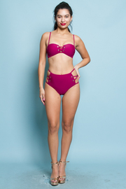 BIKINI AND HIGH RAISE BOTTOM SWIMWEAR SET