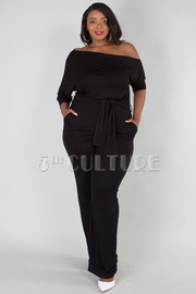 PLUS SIZE ONE OFF SHOULDER JUMPSUITS
