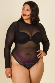 PLUS SIZE MESH BODYSUITS