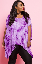 PLUS SIZE PANCH STYLE SHORT SLEEVE TOP
