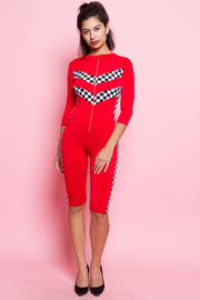 SEXY 3/4 SLEEVE JUMPSUITS