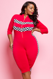 PLUS SIZE FITTED ROMPERS