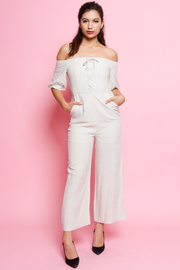 OFF SHOULDER JUMPSUITS