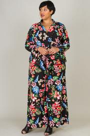 Plus Size Floral Tropical 2-Piece Blazer Pants Set