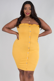 PLUS SIZE TUBE MINI DRESS