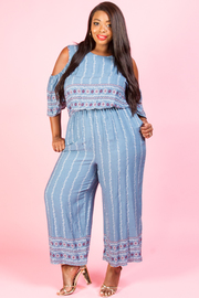 PLUS SIZE OFF SHOULDER JUMPSUITS