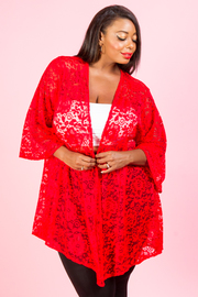 PLUS SIZE 3/4 SLEEVE CARDIGANS