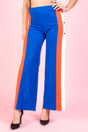 STRIPE SIDE SLIT LONG PANTS