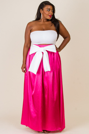 PLUS SIZE GYPSY LONG RIBBON POINT SKIRTS