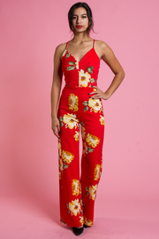 SLEEVLESS PALAZZO JUMPSUITS