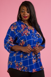 PLUS SIZE 3/4 SLEEVE SHIRTS 3/4 SLEEVE TOP