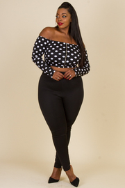 PLUS SIZE TOP AND PANTS SET