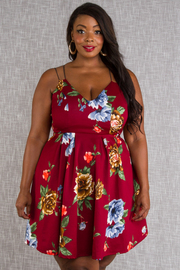 PLUS SIZE SLEEVELESS A LINE MINI DRESS