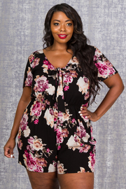 PLUS SIZE FLOWER ROMPERS