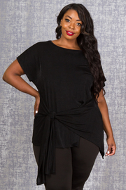 PLUS SIZE SHORT SLEEVE TOP