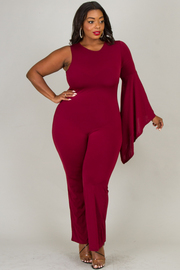 PLUS SIZE ONE LONG SLEEVE JUMPSUITS