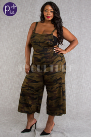 PLUS SIZE SLEEVELESS JUMPSUITS
