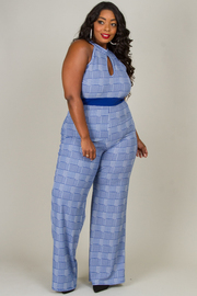 PLUS SIZE HALTER JUMPSUITS