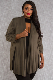 Solid Rayon Short Cardigan