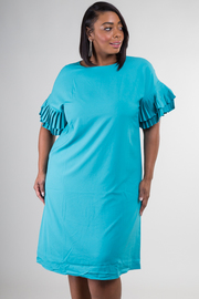 Layered Short Sleeve Knee Dress